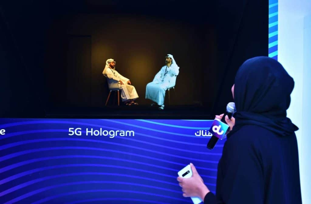 ZTE og du demonstrerer 5G Live-hologram