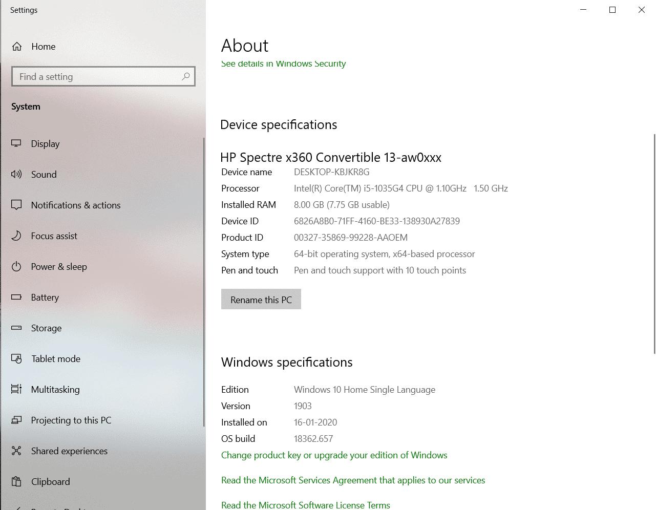 သင်၏ Windows 10 Device တွင် RAM မည်မျှရှိသနည်း။