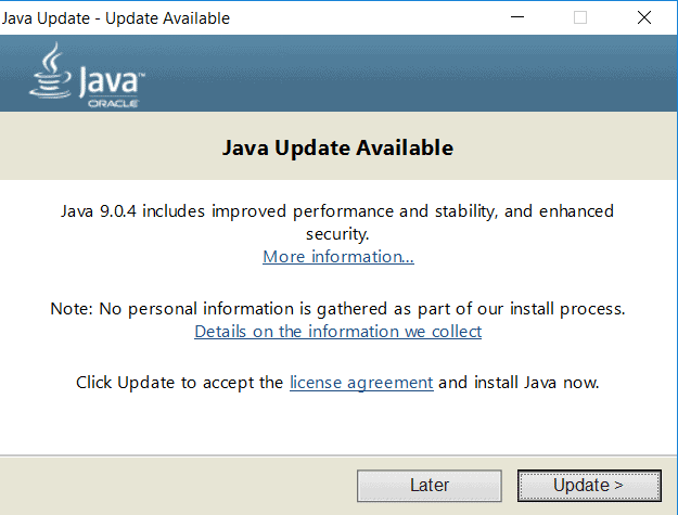 How to Update Java version on Windows 10