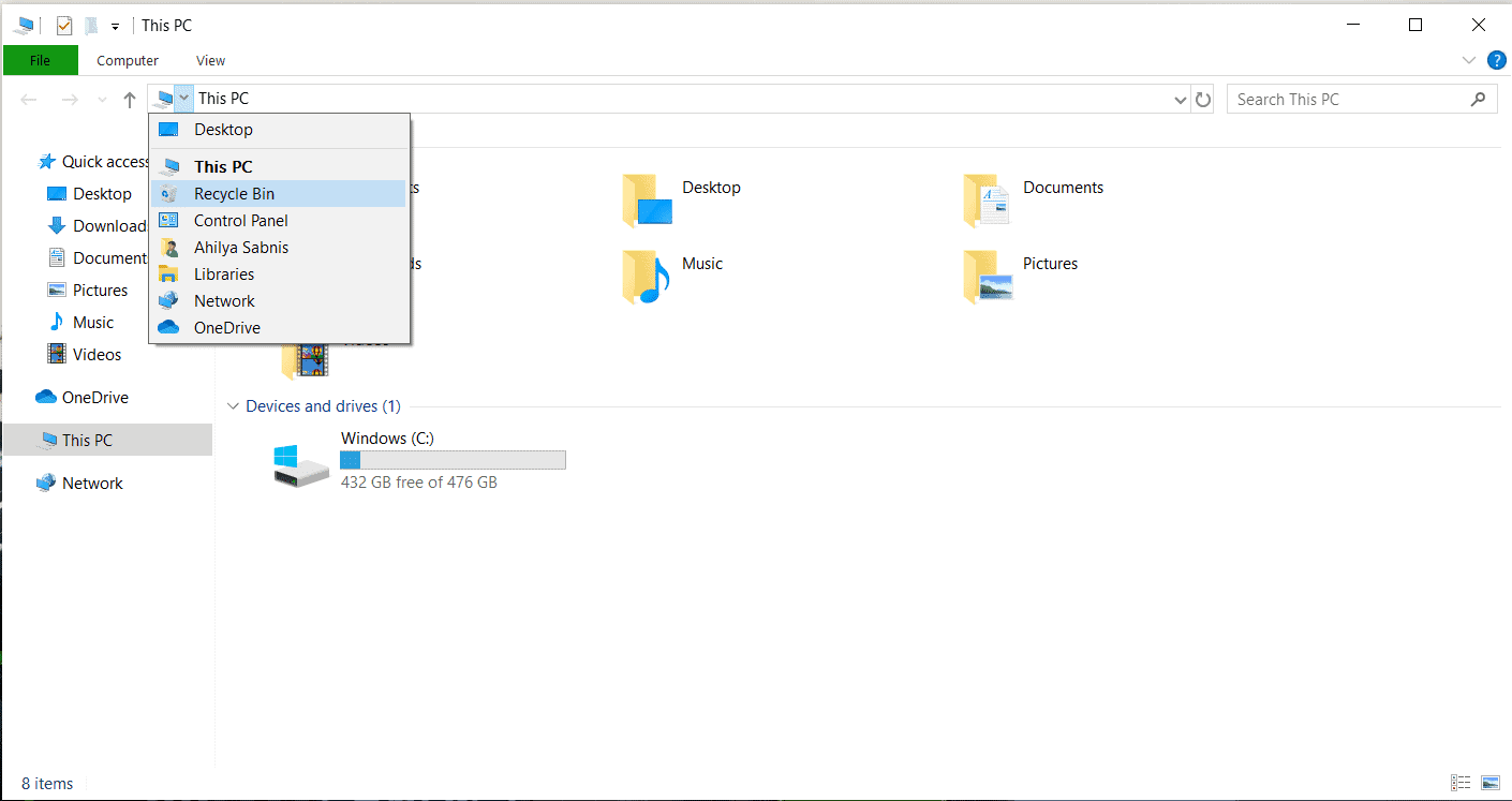 Di mana Recycle Bin pada Windows 10