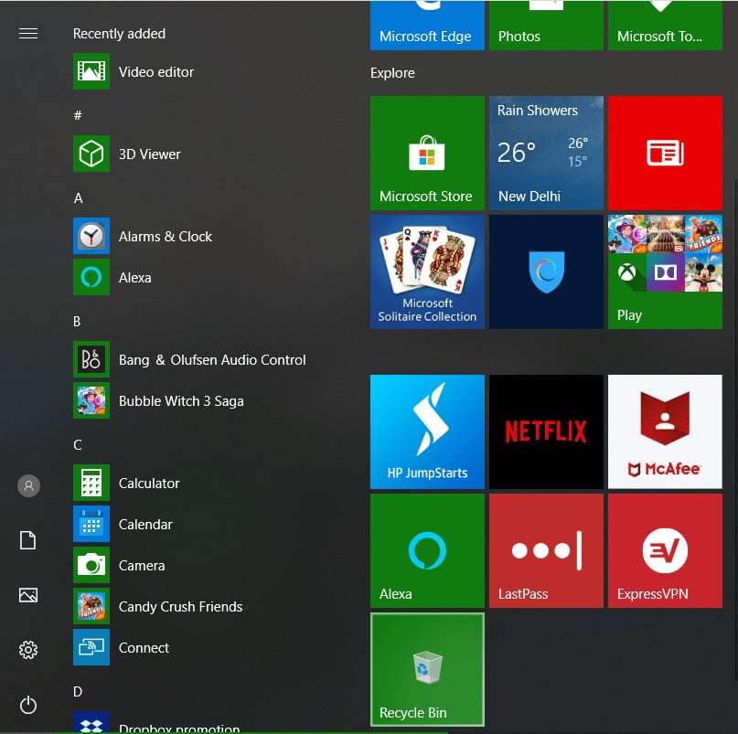 recycle bin pada windows 10