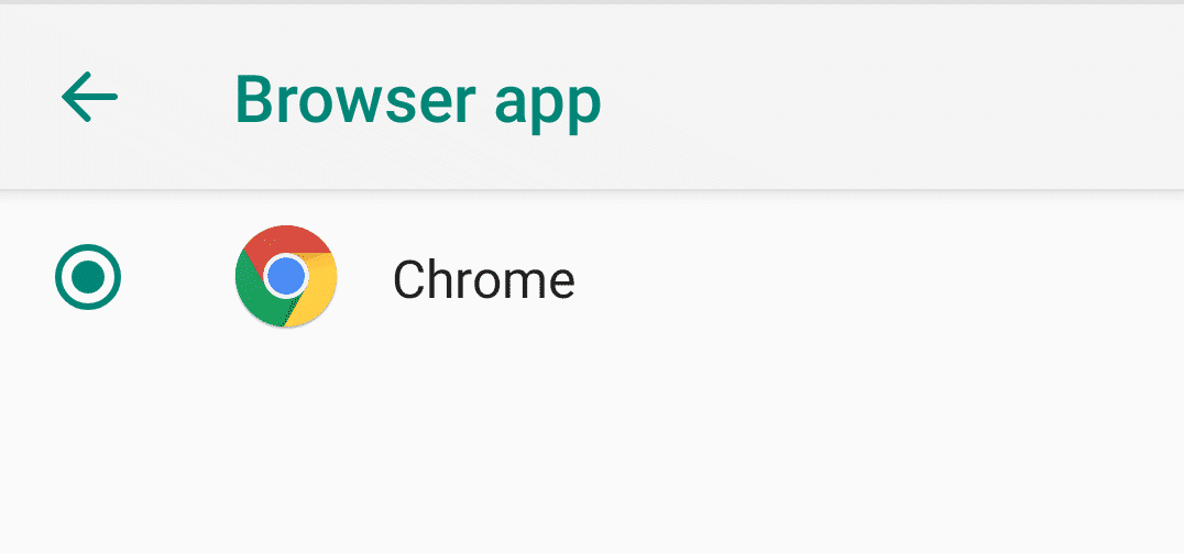 Make Chrome the default browser on Android